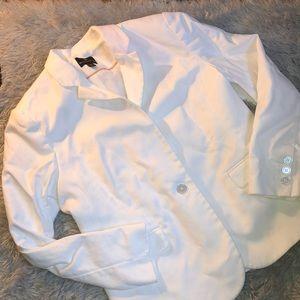 Worthington Womens White Blazer